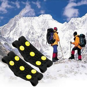 5 Studs Ice Spikes for Shoes  Winter Outdoor Ice Anti Slip Shoe Equipment Hiking