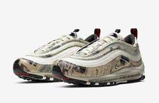 "Nike Air Max 97 ""Newspaper"" Sail/Black/Team Orange/White 921826-108 M Size 10.5"
