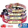 Personalized Leather small Dog Collar with Custom Name tag Name engraved ID Tag