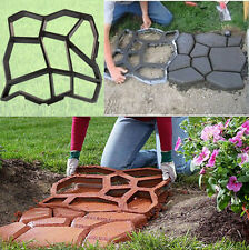 Pavement Mold DIY Plastic Path Road Maker Paving Cement Brick Molds For Garden