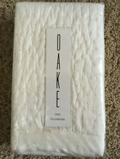 "Oake Linen Quilted King Pillow Sham for 20 x 26"" White New"