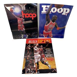 MICHAEL JORDAN Hoop Magazine Lot Programs Yearbook Chicago Bulls NBA Basketball