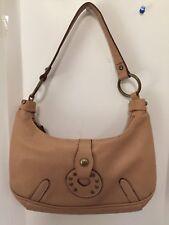XOXO purse /  handbag hearts - tan / camel - small hobo style