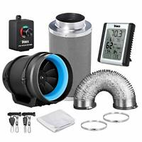 iPower 4''6''8'' Inline Grow Tent Ventilation Air Ducting Carbon Filter Fan Set