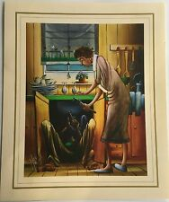 New Max Mannix Artist Painting Print - Don't You Think You Should Call A Plumber