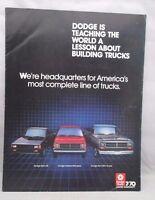 1988 Dodge Truck Brochure Ram 50 Dakota Ram 150 Ram Van