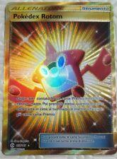 Lotto carte Pokemon POKEDEX ROTOM 159/149 SOLE E LUNA EX FULL ART FA SECRET