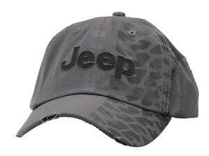 Jeep Cap Jeep Kappe Distressed Charcoal Tire Track Jeep® Cap Basballcap Bascap