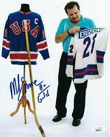 Mike Eruzione Signed USA Olympics Hockey 1980 Gold Medal 8x10 Photo W/ JSA COA