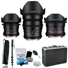 Rokinon Full Frame Cine DS Lens Kit +12mmT3.1 Fisheye +14mmT3.1+24mm F/ Canon EF