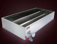 Badgerland 2'x3' Continuous Flow Divided Maple Syrup Pan w/Valve, Therm and Plug