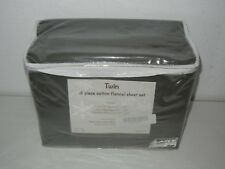 Elite Home Winter Nights 3 Piece Flannel Sheet Set 100% Cotton Charcoal