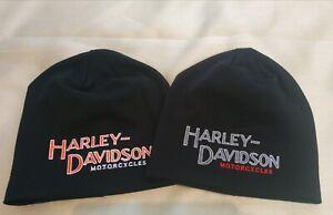 Harley Davidson logo custom beanie embroidery