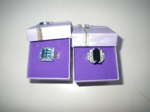 DRESS RINGS 2 NEW BOXED  UNWANTED ITEMS ? SIZE L-XL