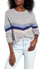 Rails Womens M Lakeside Grey Chevron Stripe Perci Pullover Sweater NWT