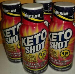 KETO Shot Energy 4 oz(Set 3 Bottles)O sugar/Cal. Support KETO Diet Berry Flavor