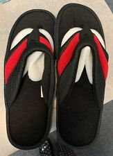 Avon Mens Sporty Slippers Black and Red