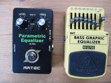 2 Geräte Bass Graphic Equlizer und parametrischer Eq Gitarre