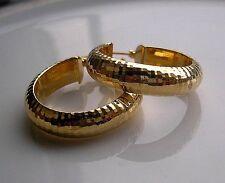 GENUINE 9ct gold hoop earrings gf THESE ARE STUNNING!!  060