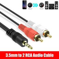 2 RCA Male to Male Aux Cord Audio Cable For MP3 Phone Computer Sound Amplifier