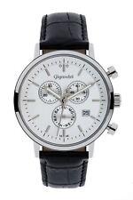 Uhr Armbanduhr Herrenuhr Chronograph Gigandet G6-001 Silber Schwarz Lederband