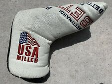 Bettinardi USA White Milled Putter Headcover Black Golf Club Leather Blade
