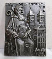 Buderus Kunstguss Eisenguss Plakette Buderus 1984 St. Benedictus
