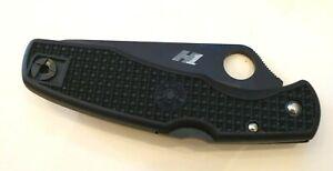 New Spyderco C91PBBK Pacific Black KO Folding Pocketknife Knife Black Blade