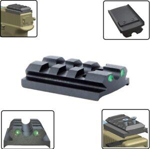 Schlittenmontage Picatinny Schiene Adapter Glock Leucht-Kimme Montageplatte