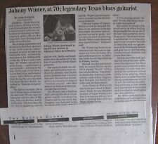 Obituary: Johnny Winter, 70, Texas Blues Guitarist with long flowing white hair