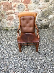 Late Victorian Desk Chair  / Carver Chair / Office Chair