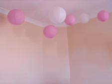 9x 30cm pink white paper lantern engagement wedding 21 birthday party decoration