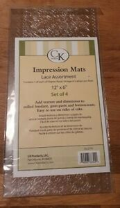 CK Products Impression Texture Mats Lace Assortment for sugarpaste cake craft