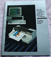 1984 HP HEWLETT-PACKARD Trade Dealer Brochure HP PC PLOTTERS FOR IBM PC