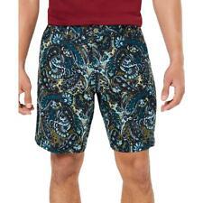 """Tasso Elba мужские льняные 9"""" внутренний шов Пейсли повседневные шорты bhfo 9363"""