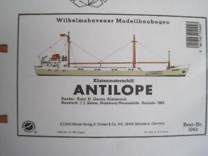 Antilope Kümo Schiff Wilhelmshavener Modellbaubogen Bastelbogen Kartonmodel