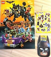 PROMO LEGO 2017 Batman Movie TARGET Exclusive Event SET POSTER MASK STICKER