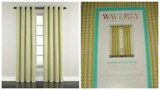 2 Waverly 52x84 Grantham Plaid Celery Grommet Window Curtain Panels NEW
