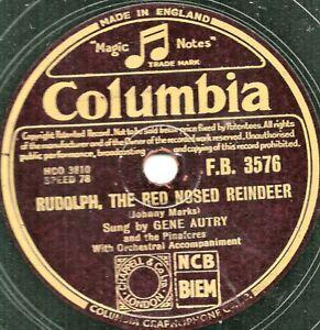 XMAS GENE AUTRY 78 SANTA SANTA SANTA / RUDOLPH THE RED NOSED REINDEER COL FB1576