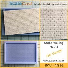 Stone Buildings PLAIN STONE Wall Sheet - NS16 - Model Railways OO Gauge NEW