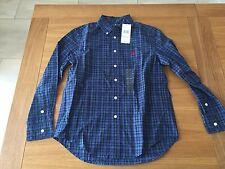 NEW Genuine  Ralph Lauren long sleeve shirt Size M 10-12 yrs tartan design