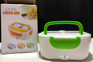 Electric Lunch Box Model B10-0850 White and Green 110V 40W Fresh and Hot Meal