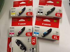 Originale Tintenpatronen von Canon 551 XL (M, Y, C, BK) + 1 x 550 PGBK XL NEU