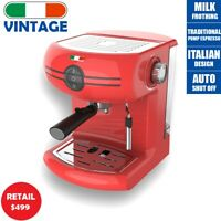 Vintage Traditional Pump Espresso Coffee Machine Manual Not Delonghi - Red