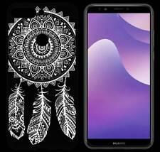TPU Case TATTOO Spring Design per Huawei y7 2018 Custodia Guscio Astuccio Trasparente