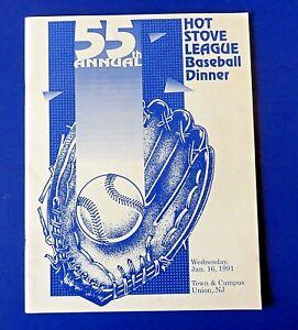 ENOS SLAUGHTER SIGNED Hot Stove League Baseball Dinner MAGAZINE ~ 100% GUARANTEE