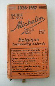 GUIDE MICHELIN  BELGIQUE  1936-1937