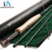 Maxcatch Fly Rod V-TOP 9FT 5/6/8WT 4 Piece Fast Action (IM12) With Aluminum Tube