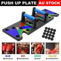 9 in1 Push Up Rack Board System Fitness Workout Train Exercise Pushup Stands AUS