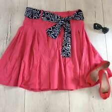 Atmosphere Uk14 Xl Skirt Flare Swing Skater Wide Knee Pink Belt Primark